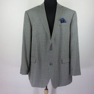 Oak Hill Brown/Blue Gingham Sport Coat Jacket